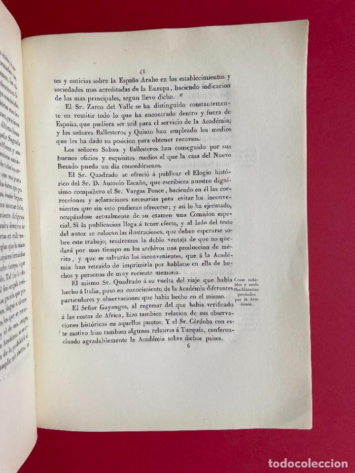 Libros antiguos: 1850 - DISCURSO LEIDO A LA REAL ACADEMIA DE HISTORIA POR EL BARON DE LAJOYOSA - Foto 7 - 244432155