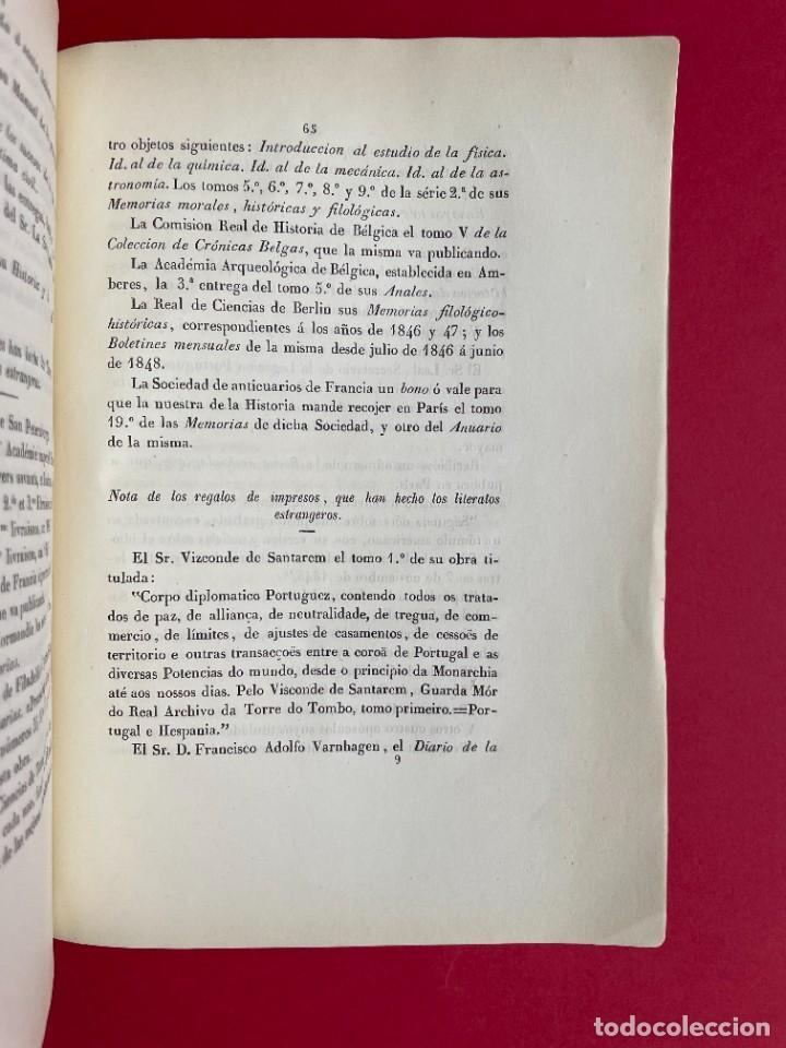 Libros antiguos: 1850 - DISCURSO LEIDO A LA REAL ACADEMIA DE HISTORIA POR EL BARON DE LAJOYOSA - Foto 9 - 244432155