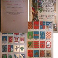 Libros antiguos: ENCICLOPEDIA HERALDICA Y GENEALOGICA HISPANO AMERICANA T 19 (CADENA A CAMPANÍ O CAMPÁN) 1921. Lote 244699580