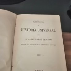Libros antiguos: RESUMEN HISTORIA UNIVERSAL 1883. Lote 244712575