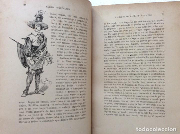 Libros antiguos: Patria portuguesa. Por Júlio Dantas Ilustraciones de Alberto de Sousa. 2-ª edicion, 1915. Muy raro. - Foto 9 - 244877115