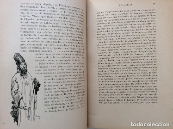 Libros antiguos: Patria portuguesa. Por Júlio Dantas Ilustraciones de Alberto de Sousa. 2-ª edicion, 1915. Muy raro. - Foto 12 - 244877115