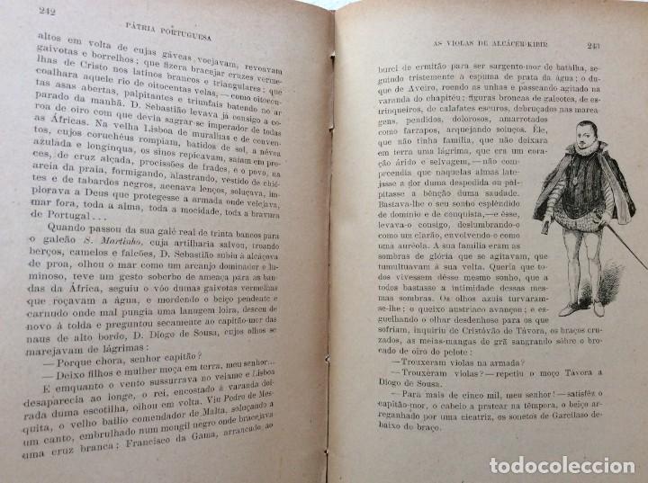 Libros antiguos: Patria portuguesa. Por Júlio Dantas Ilustraciones de Alberto de Sousa. 2-ª edicion, 1915. Muy raro. - Foto 17 - 244877115