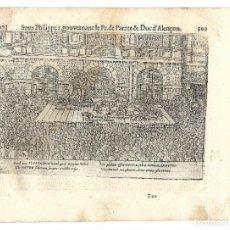 Libros antiguos: 1616 GRABADO DEL LIBRO LAS GUERRAS DE NASSAU. EJECUCIONES POR DESCUARTIZACIÓN EN AMBERES. Lote 244886780