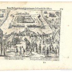 Libros antiguos: 1616 GRABADO DEL LIBRO LAS GUERRAS DE NASSAU. SITIO Y PACIFICACIÓN DE GANTE. Lote 245087330