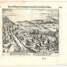 Libros antiguos: 1616 GRABADO DEL LIBRO LAS GUERRAS DE NASSAU. TERCIOS ESPAÑOLES CONTRA ESCOCESES. GUERRA DE FLANDES. Lote 245122835