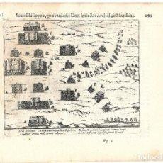 Libros antiguos: 1616 GRABADO DEL LIBRO LAS GUERRAS DE NASSAU. BATALLA DE RIJMENAN (1578). Lote 245125630