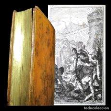 Libros antiguos: AÑO 1744 PRIMERA EDICIÓN ROMA SALLUSTII BELLUM CATILINARIUM GRABADOS COCHIN 13 EN EL MUNDO SALUSTIO. Lote 246673215