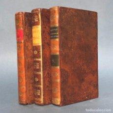 Livros antigos: 1819 - LOTE DE LIBROS DEL SIGLO XIX - ENCUADERNACIÓN - DECORACIÓN - PIEL. Lote 251237905