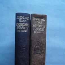 Livros antigos: VIDAS DE LOS NAVEGANTES Y CONQUISTADORES ESPAÑOLES. RICARDO MAJO FRAMIS. Lote 254177045
