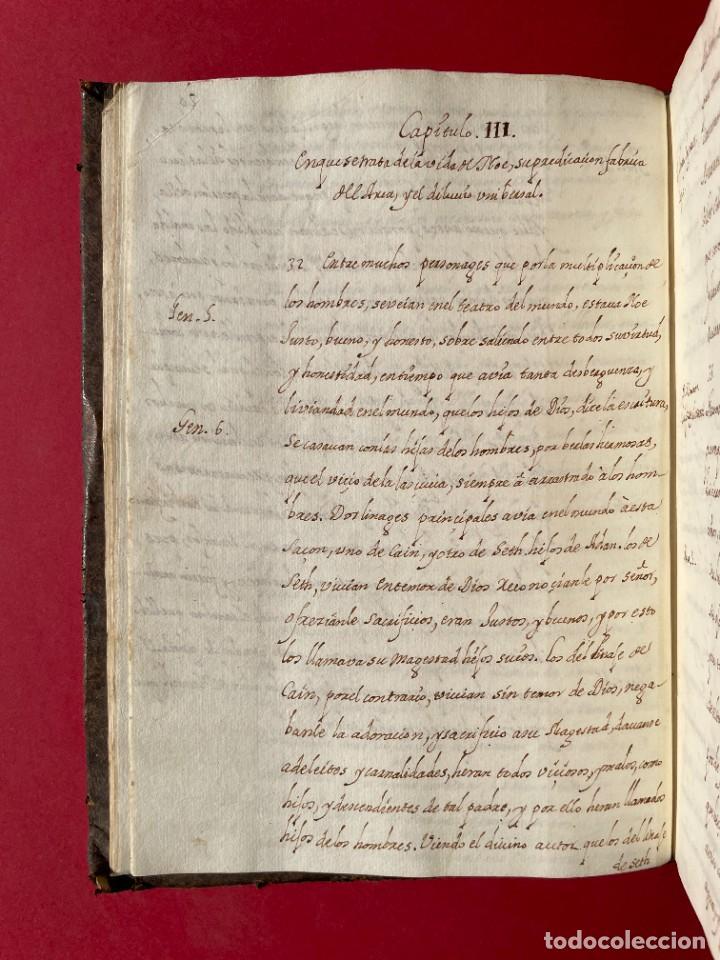 Libros antiguos: SIGLO XVIII - TESOROS ESCONDIDO, VIDA DE LOS PATRIARCAS JUDIOS - LIBRO MANUSCRITO - Foto 4 - 254344345