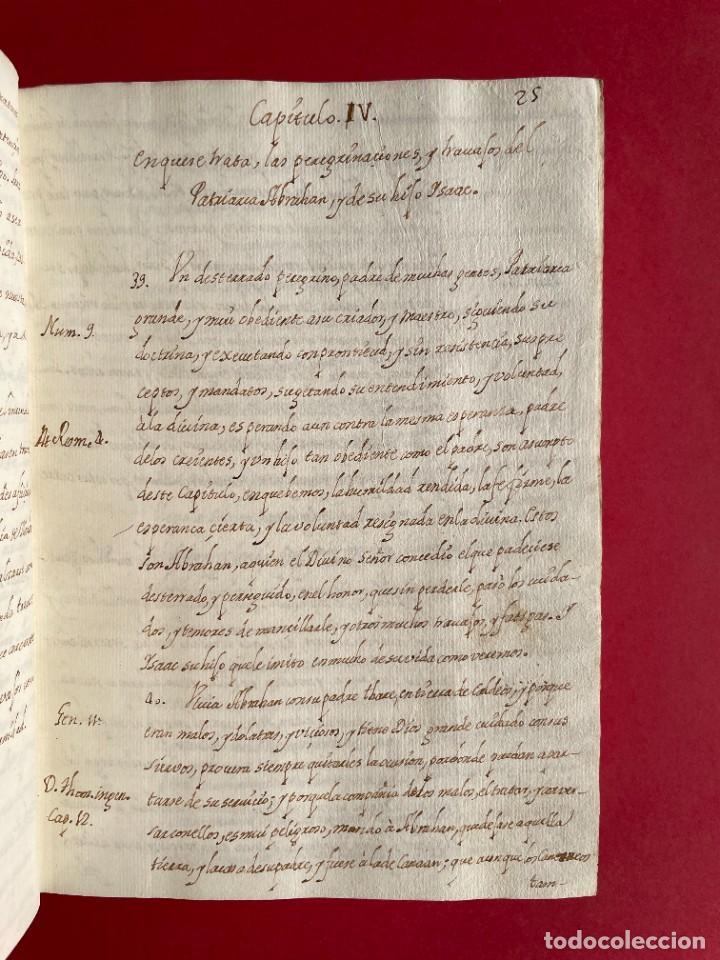 Libros antiguos: SIGLO XVIII - TESOROS ESCONDIDO, VIDA DE LOS PATRIARCAS JUDIOS - LIBRO MANUSCRITO - Foto 6 - 254344345