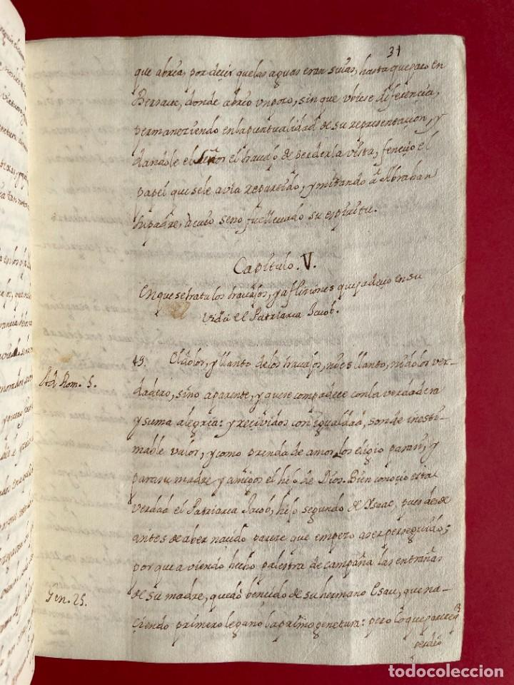 Libros antiguos: SIGLO XVIII - TESOROS ESCONDIDO, VIDA DE LOS PATRIARCAS JUDIOS - LIBRO MANUSCRITO - Foto 8 - 254344345