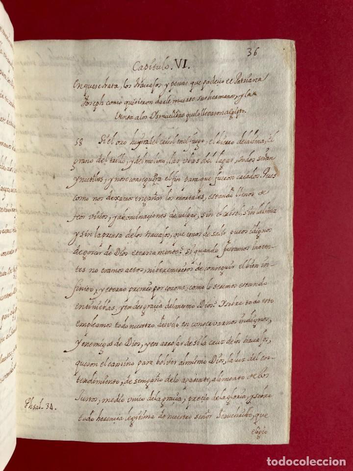 Libros antiguos: SIGLO XVIII - TESOROS ESCONDIDO, VIDA DE LOS PATRIARCAS JUDIOS - LIBRO MANUSCRITO - Foto 10 - 254344345
