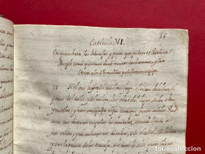 Libros antiguos: SIGLO XVIII - TESOROS ESCONDIDO, VIDA DE LOS PATRIARCAS JUDIOS - LIBRO MANUSCRITO - Foto 11 - 254344345