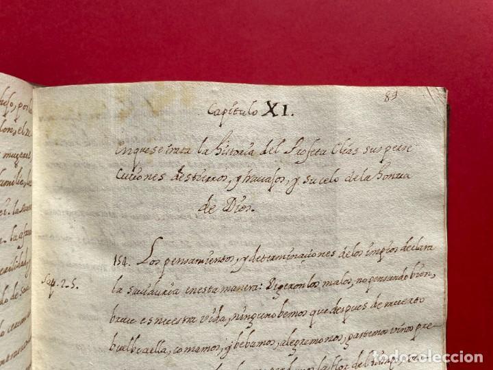 Libros antiguos: SIGLO XVIII - TESOROS ESCONDIDO, VIDA DE LOS PATRIARCAS JUDIOS - LIBRO MANUSCRITO - Foto 18 - 254344345