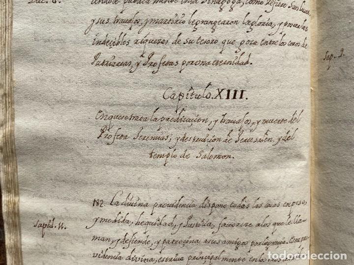 Libros antiguos: SIGLO XVIII - TESOROS ESCONDIDO, VIDA DE LOS PATRIARCAS JUDIOS - LIBRO MANUSCRITO - Foto 22 - 254344345