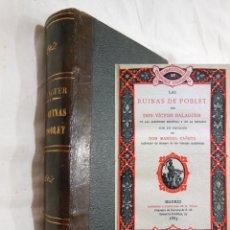 Livres anciens: LAS RUINAS DE POBLET. 1885 VICTOR BALAGUER, MANUEL CAÑETE (PROLOGO). Lote 254559910