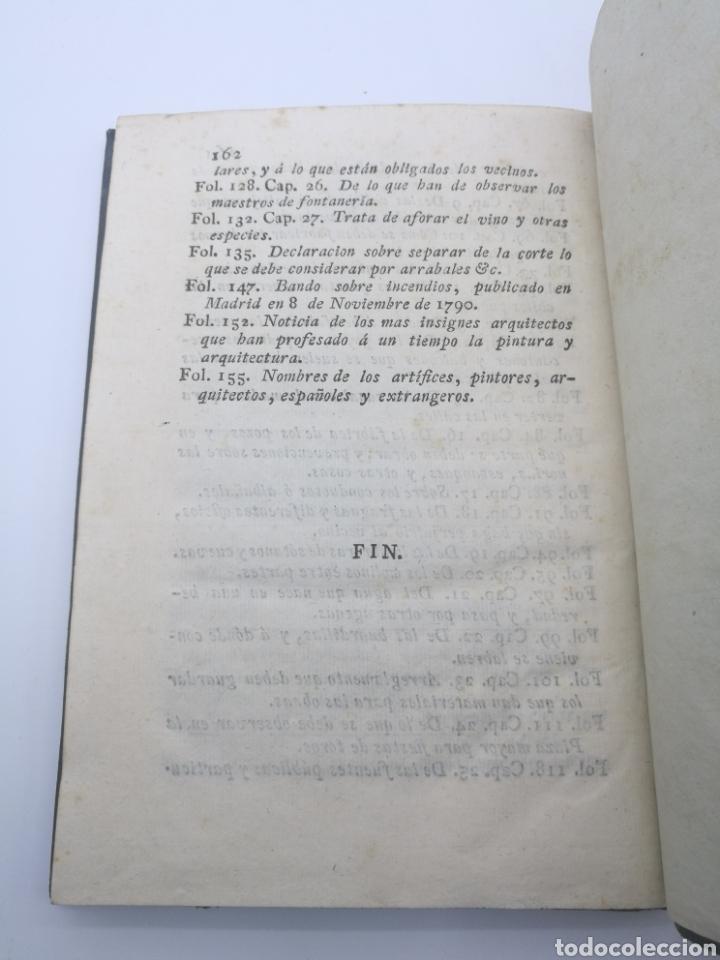 Libros antiguos: Ordenanzas de Madrid y otras diferentes año 1820 - Foto 8 - 256021265