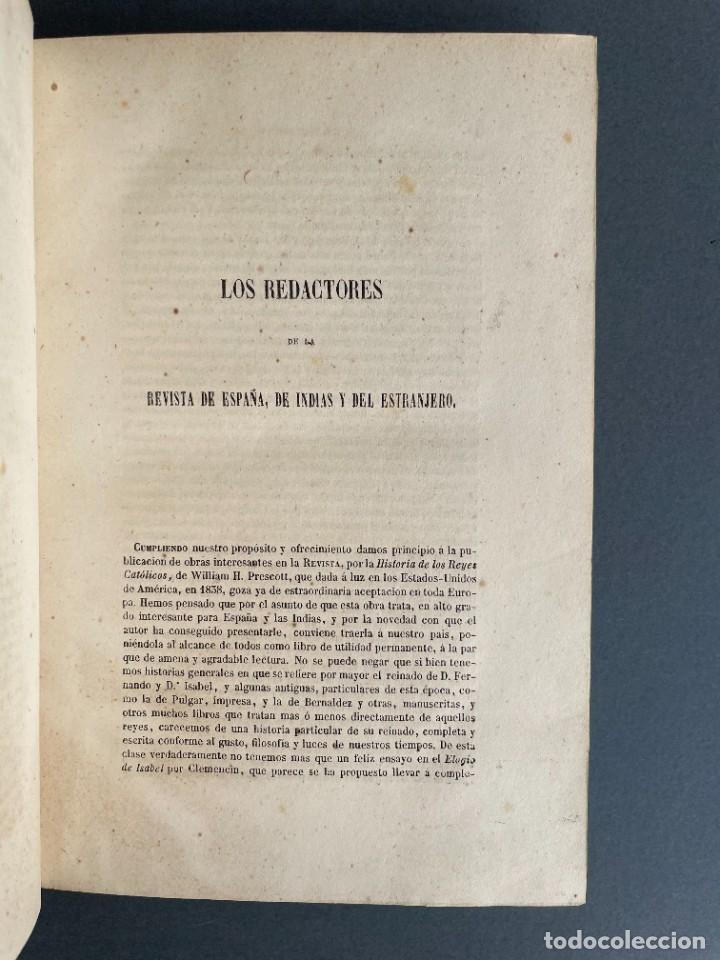 Libros antiguos: 1845 - Historia del Reinado de los Reyes Católicos Don Fernando y Doña Isabel - Reconquista - Descub - Foto 5 - 259774795