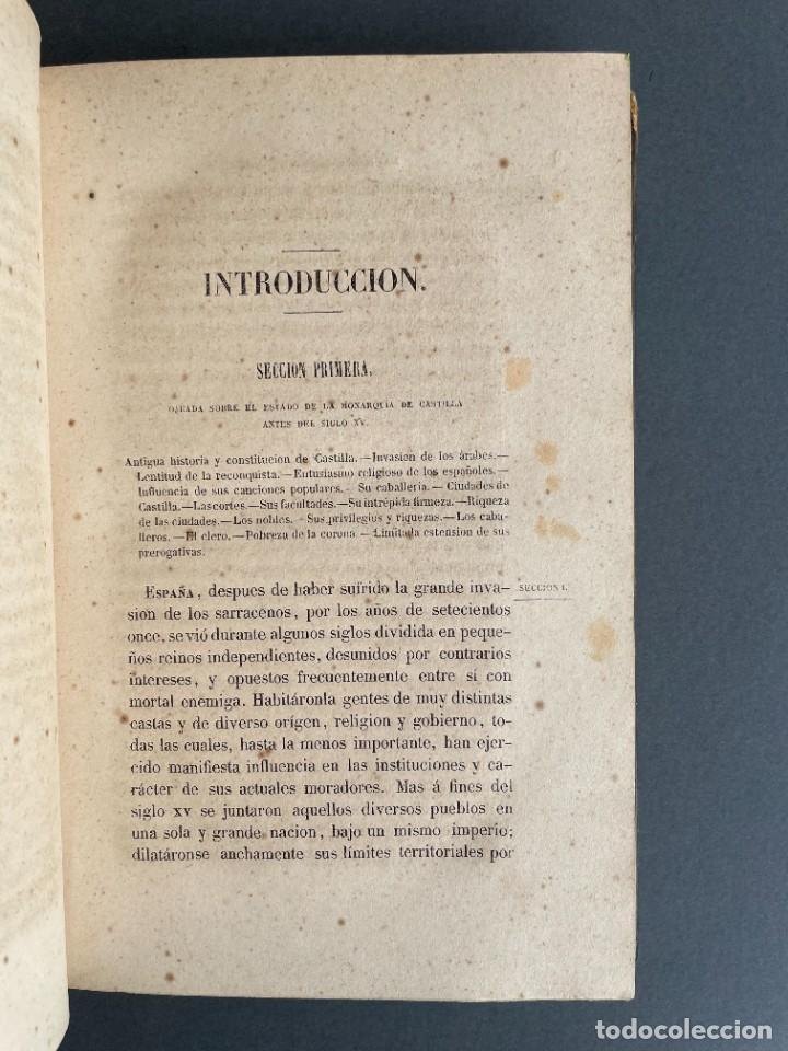 Libros antiguos: 1845 - Historia del Reinado de los Reyes Católicos Don Fernando y Doña Isabel - Reconquista - Descub - Foto 7 - 259774795