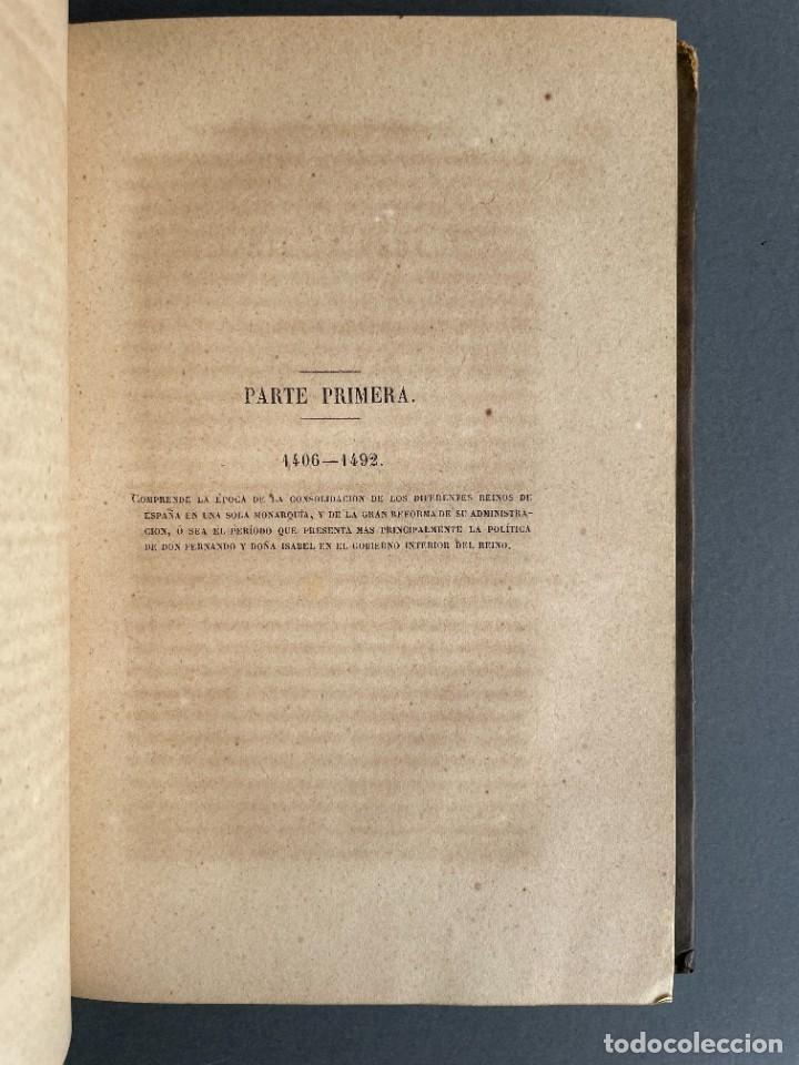 Libros antiguos: 1845 - Historia del Reinado de los Reyes Católicos Don Fernando y Doña Isabel - Reconquista - Descub - Foto 9 - 259774795