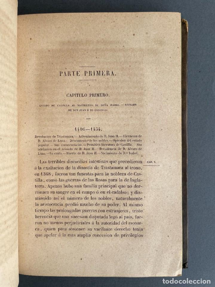 Libros antiguos: 1845 - Historia del Reinado de los Reyes Católicos Don Fernando y Doña Isabel - Reconquista - Descub - Foto 10 - 259774795