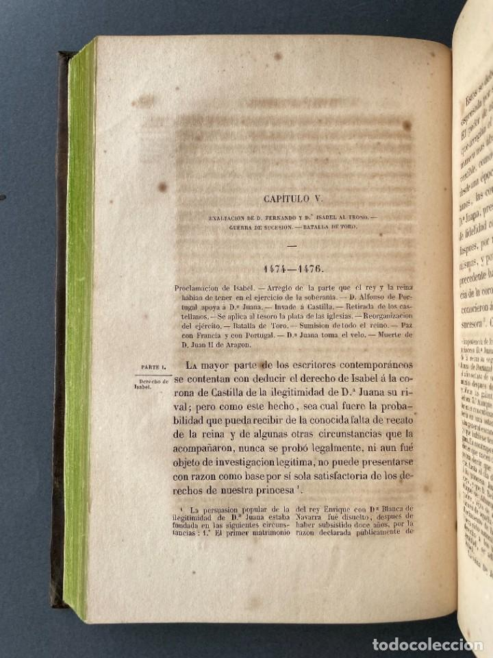 Libros antiguos: 1845 - Historia del Reinado de los Reyes Católicos Don Fernando y Doña Isabel - Reconquista - Descub - Foto 12 - 259774795