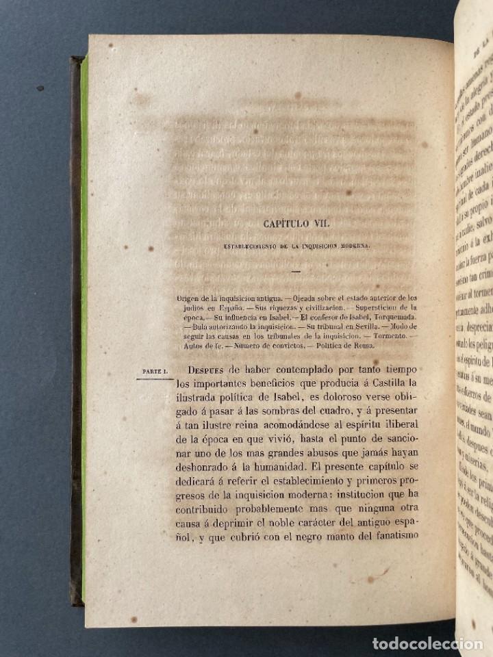 Libros antiguos: 1845 - Historia del Reinado de los Reyes Católicos Don Fernando y Doña Isabel - Reconquista - Descub - Foto 13 - 259774795