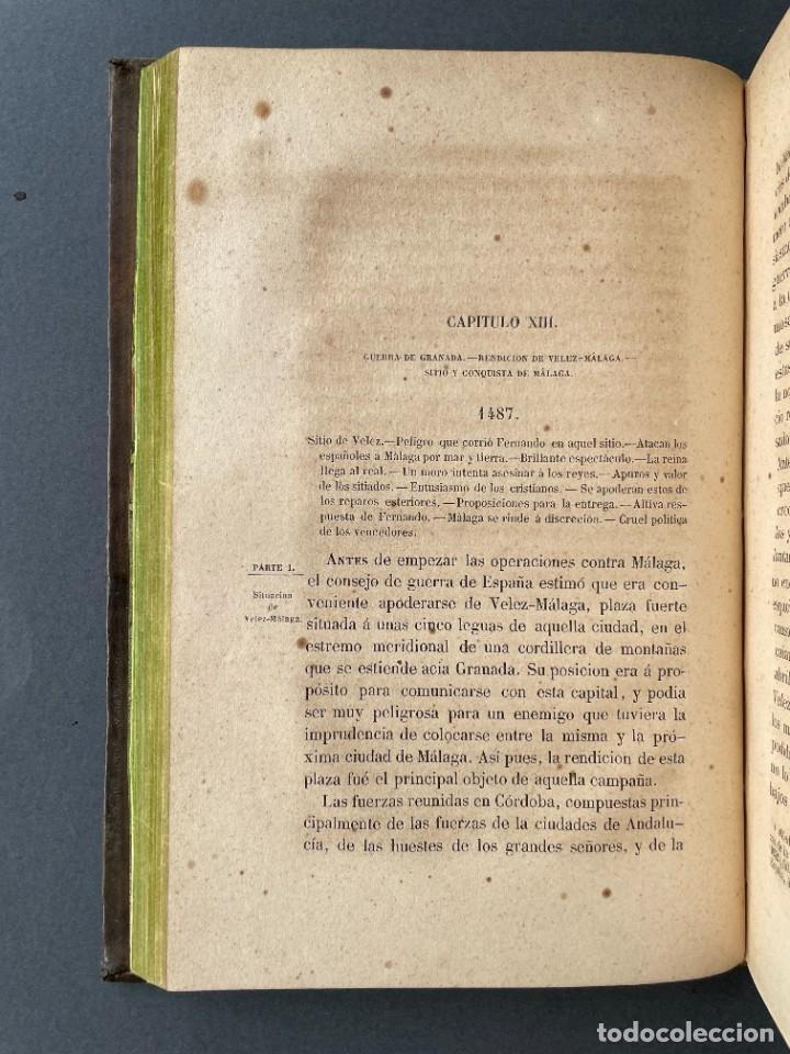 Libros antiguos: 1845 - Historia del Reinado de los Reyes Católicos Don Fernando y Doña Isabel - Reconquista - Descub - Foto 19 - 259774795