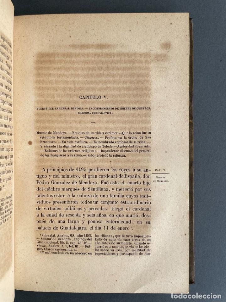 Libros antiguos: 1845 - Historia del Reinado de los Reyes Católicos Don Fernando y Doña Isabel - Reconquista - Descub - Foto 27 - 259774795