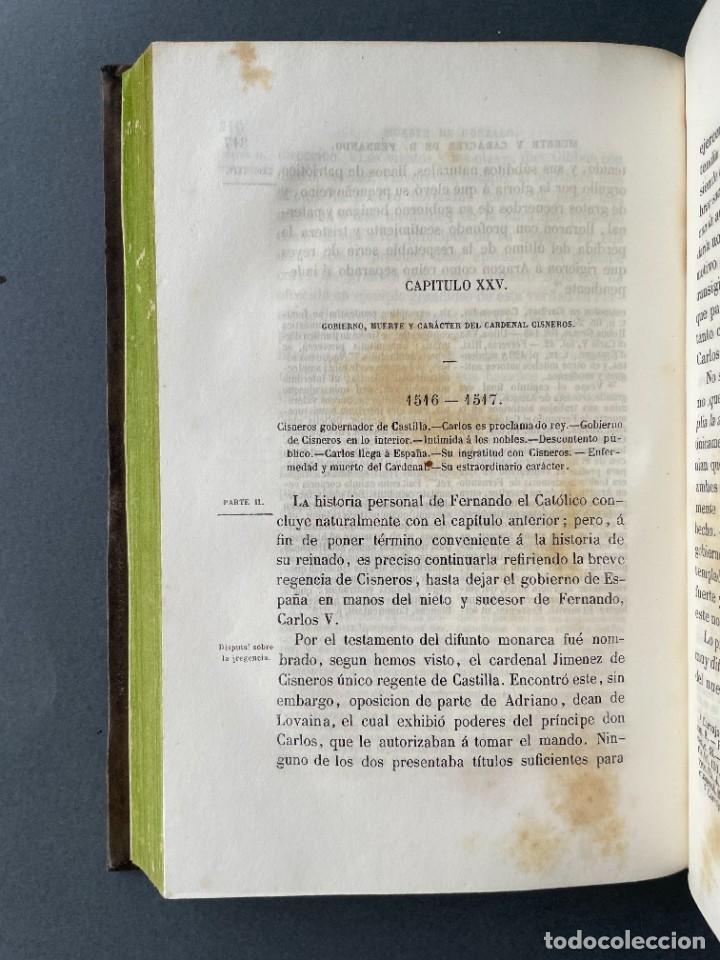 Libros antiguos: 1845 - Historia del Reinado de los Reyes Católicos Don Fernando y Doña Isabel - Reconquista - Descub - Foto 33 - 259774795