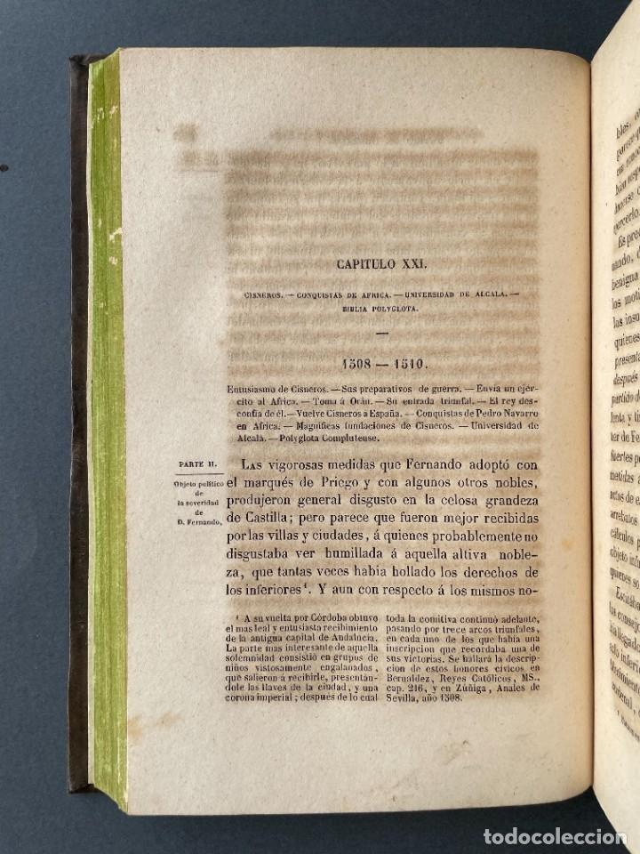 Libros antiguos: 1845 - Historia del Reinado de los Reyes Católicos Don Fernando y Doña Isabel - Reconquista - Descub - Foto 34 - 259774795