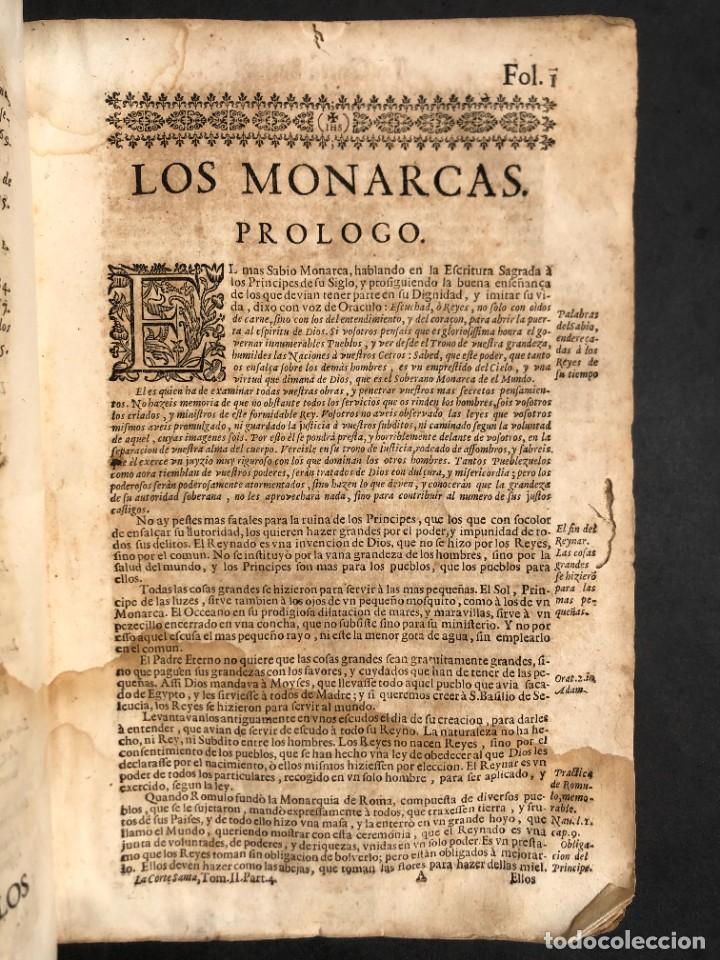 Libros antiguos: Año 1698 - La Corte santa - Tratado de los Monarcas y Cavalleros - Pergamino - De las Reynas, y Seño - Foto 24 - 259855635