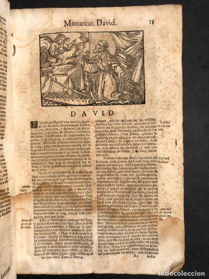 Libros antiguos: Año 1698 - La Corte santa - Tratado de los Monarcas y Cavalleros - Pergamino - De las Reynas, y Seño - Foto 25 - 259855635