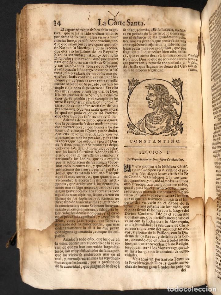 Libros antiguos: Año 1698 - La Corte santa - Tratado de los Monarcas y Cavalleros - Pergamino - De las Reynas, y Seño - Foto 28 - 259855635