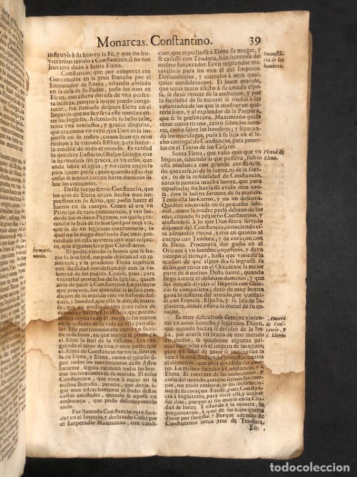 Libros antiguos: Año 1698 - La Corte santa - Tratado de los Monarcas y Cavalleros - Pergamino - De las Reynas, y Seño - Foto 30 - 259855635