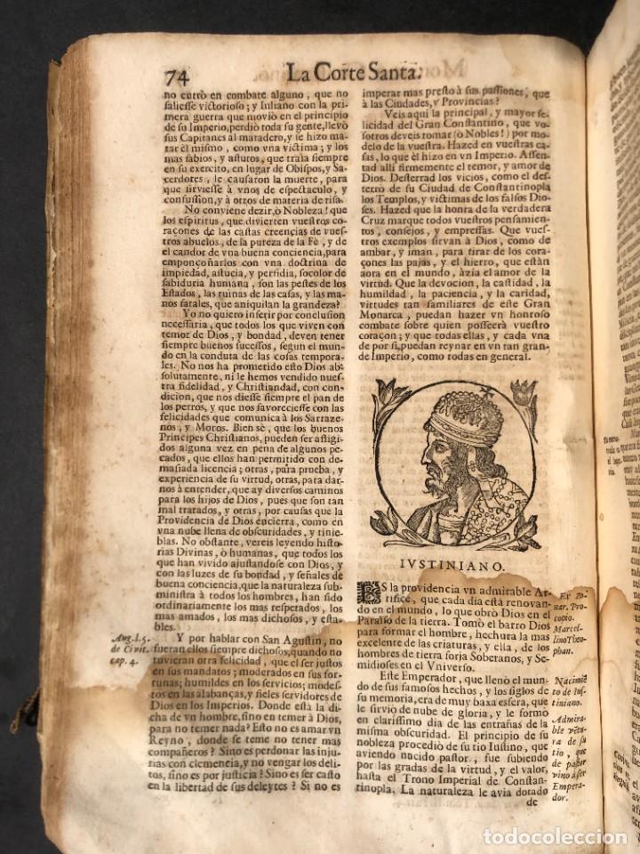 Libros antiguos: Año 1698 - La Corte santa - Tratado de los Monarcas y Cavalleros - Pergamino - De las Reynas, y Seño - Foto 32 - 259855635