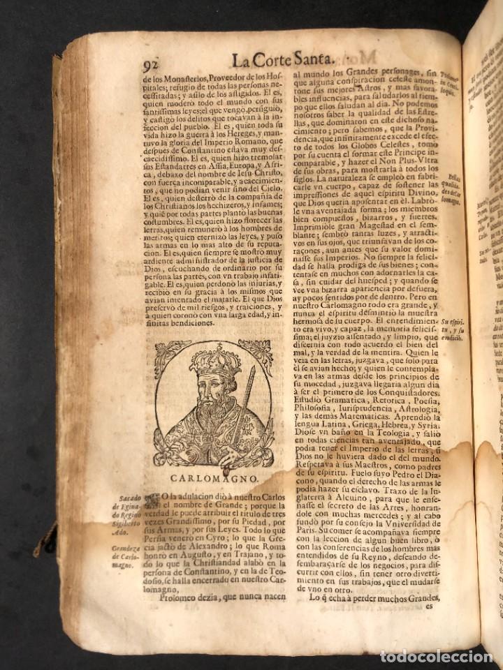 Libros antiguos: Año 1698 - La Corte santa - Tratado de los Monarcas y Cavalleros - Pergamino - De las Reynas, y Seño - Foto 33 - 259855635