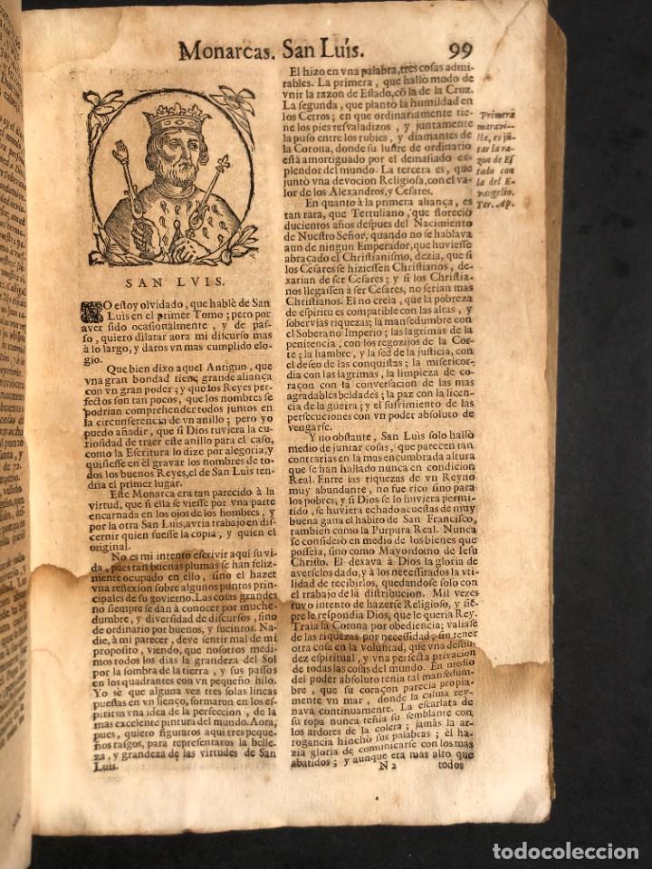 Libros antiguos: Año 1698 - La Corte santa - Tratado de los Monarcas y Cavalleros - Pergamino - De las Reynas, y Seño - Foto 36 - 259855635