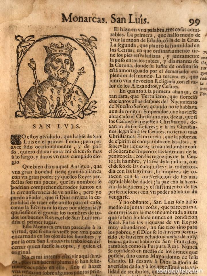 Libros antiguos: Año 1698 - La Corte santa - Tratado de los Monarcas y Cavalleros - Pergamino - De las Reynas, y Seño - Foto 37 - 259855635