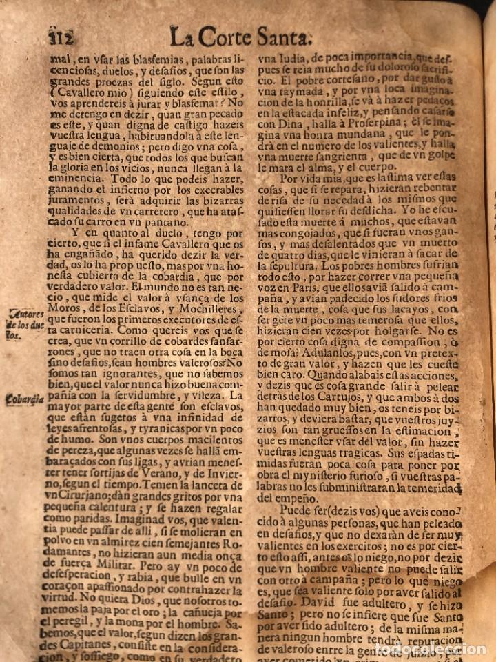 Libros antiguos: Año 1698 - La Corte santa - Tratado de los Monarcas y Cavalleros - Pergamino - De las Reynas, y Seño - Foto 40 - 259855635