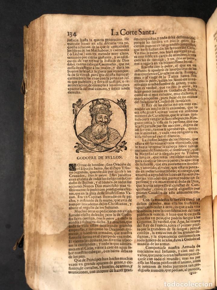 Libros antiguos: Año 1698 - La Corte santa - Tratado de los Monarcas y Cavalleros - Pergamino - De las Reynas, y Seño - Foto 45 - 259855635