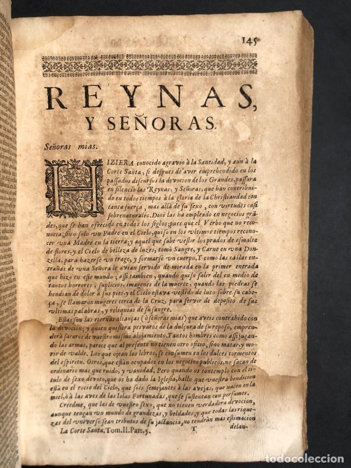 Libros antiguos: Año 1698 - La Corte santa - Tratado de los Monarcas y Cavalleros - Pergamino - De las Reynas, y Seño - Foto 50 - 259855635