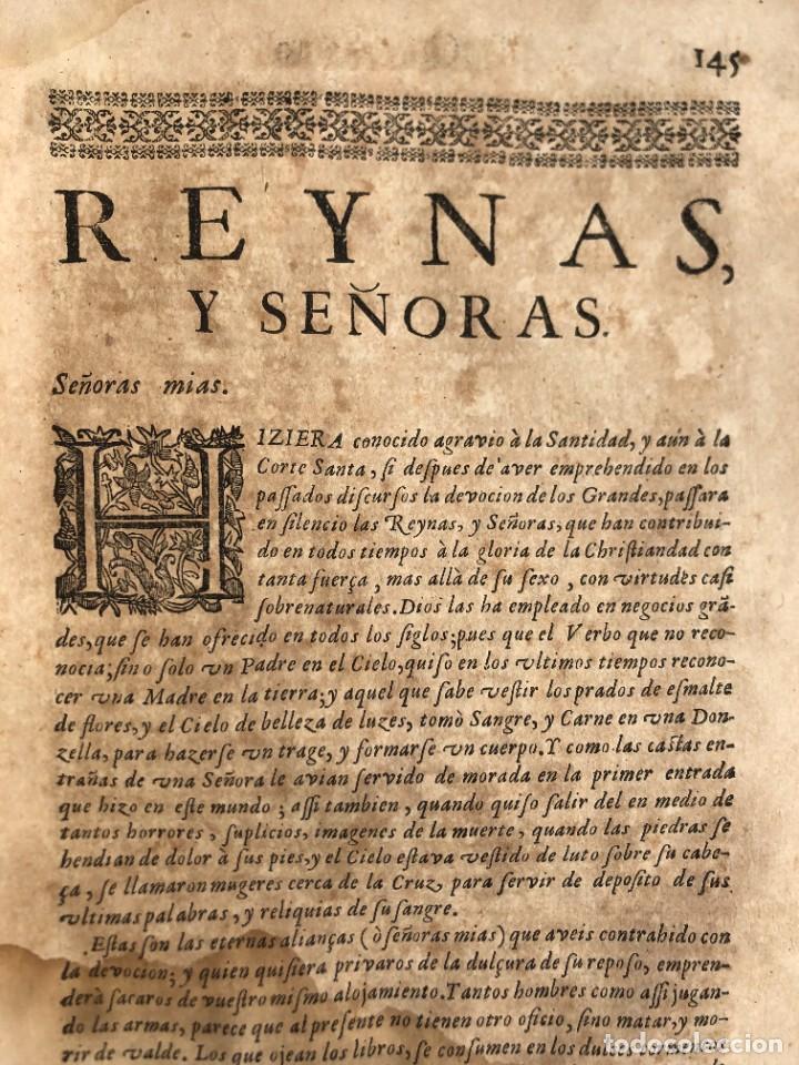 Libros antiguos: Año 1698 - La Corte santa - Tratado de los Monarcas y Cavalleros - Pergamino - De las Reynas, y Seño - Foto 51 - 259855635
