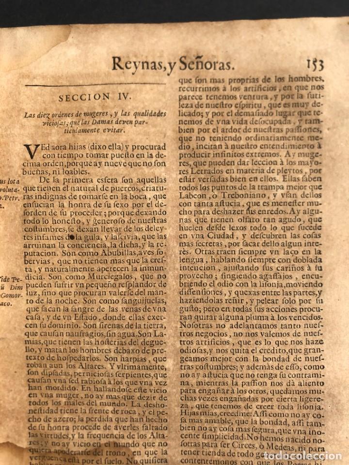 Libros antiguos: Año 1698 - La Corte santa - Tratado de los Monarcas y Cavalleros - Pergamino - De las Reynas, y Seño - Foto 52 - 259855635