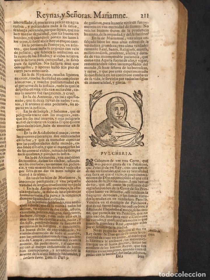 Libros antiguos: Año 1698 - La Corte santa - Tratado de los Monarcas y Cavalleros - Pergamino - De las Reynas, y Seño - Foto 57 - 259855635
