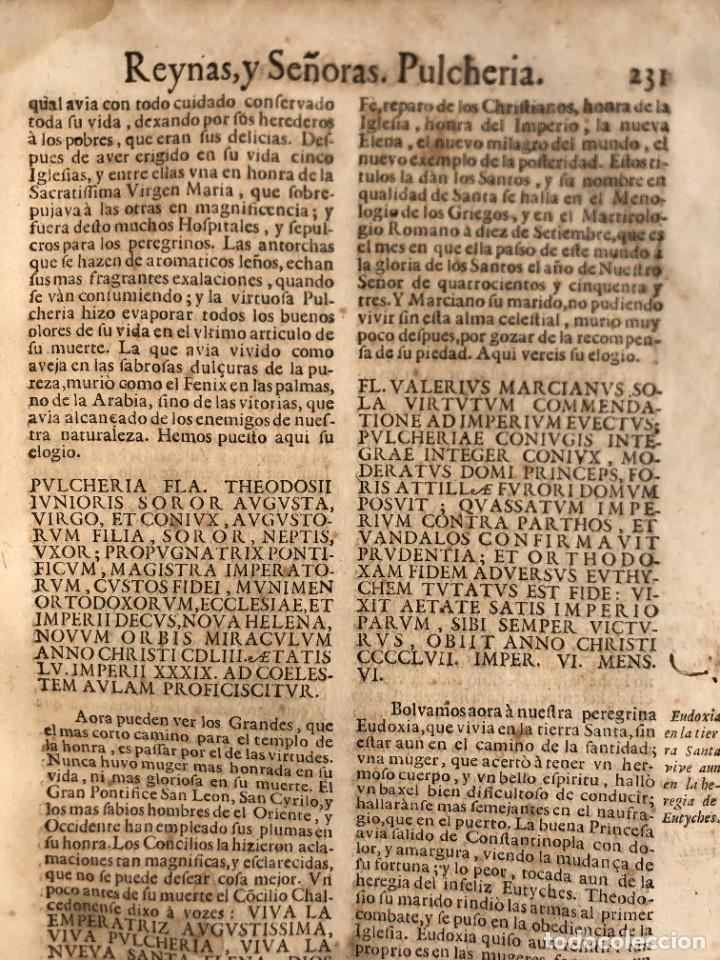 Libros antiguos: Año 1698 - La Corte santa - Tratado de los Monarcas y Cavalleros - Pergamino - De las Reynas, y Seño - Foto 58 - 259855635