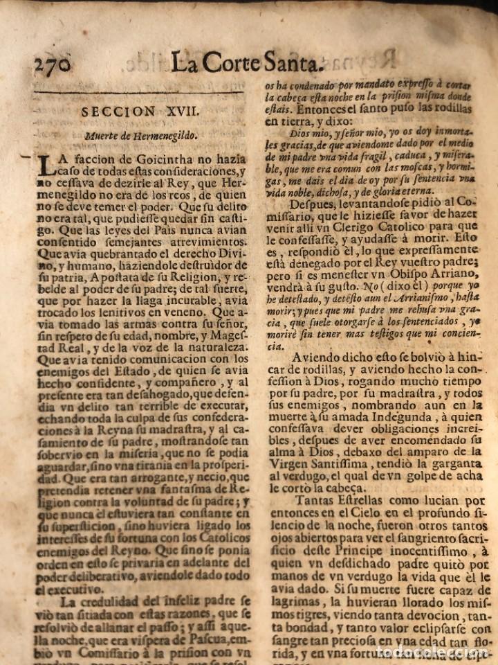 Libros antiguos: Año 1698 - La Corte santa - Tratado de los Monarcas y Cavalleros - Pergamino - De las Reynas, y Seño - Foto 62 - 259855635