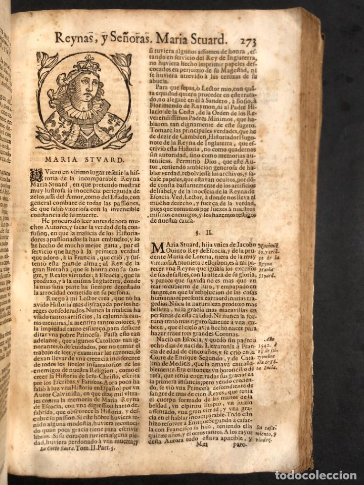 Libros antiguos: Año 1698 - La Corte santa - Tratado de los Monarcas y Cavalleros - Pergamino - De las Reynas, y Seño - Foto 63 - 259855635